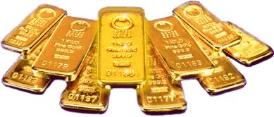 Öntött aranyrudak